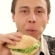Man Eating Hamburger - VideoHive Item for Sale