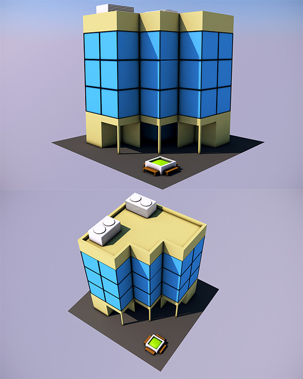 Low Poly Office Ready to Render
