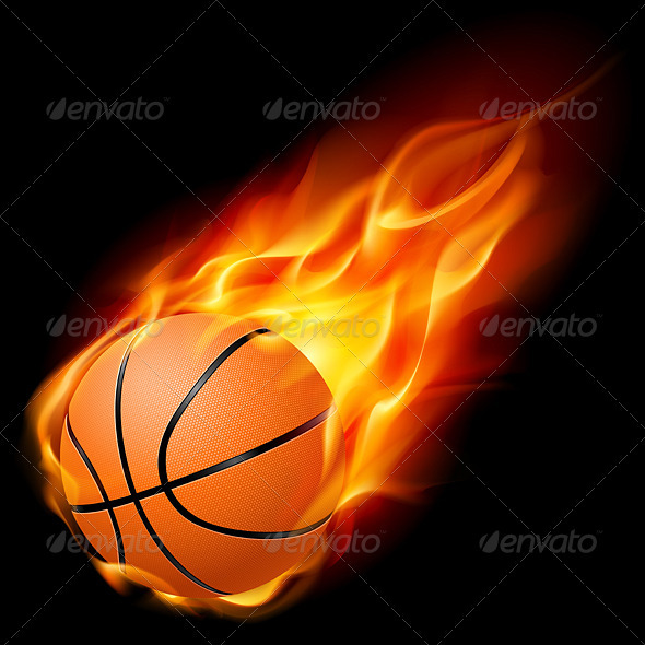 Basketball on Fire - Sports/Activity Conceptual