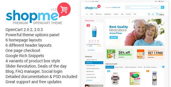 ShopMe – Multipurpose Opencart Theme