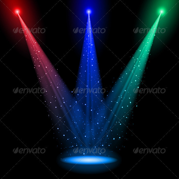 Three Conical RGB Shafts of Light - Miscellaneous Characters