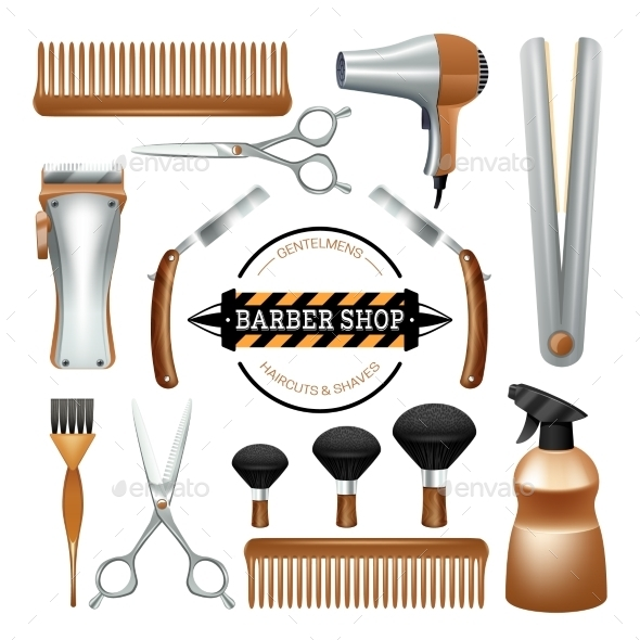 Barbershop Tools Set - Services Commercial / Shopping
