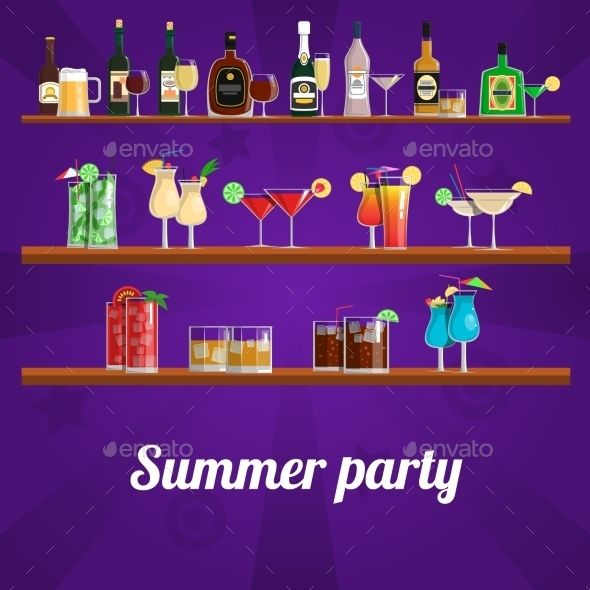 Summer Cocktail Party Concept
