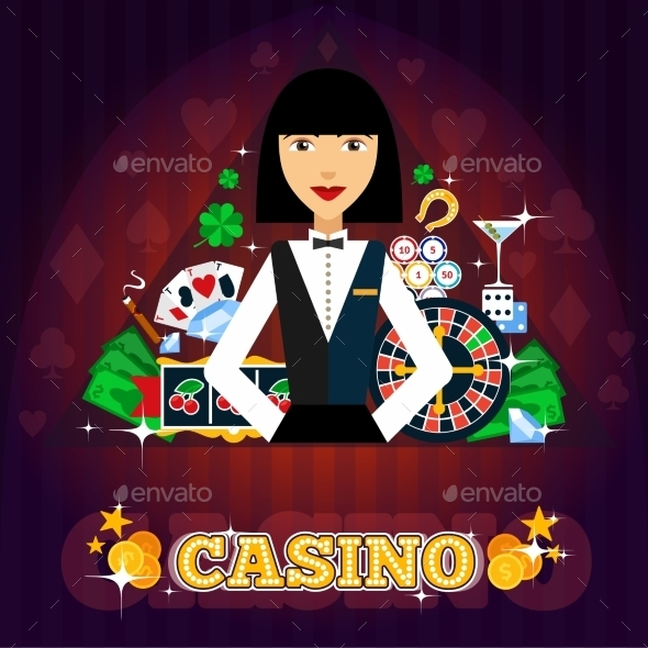 Casino Dealer Concept  - Concepts Business