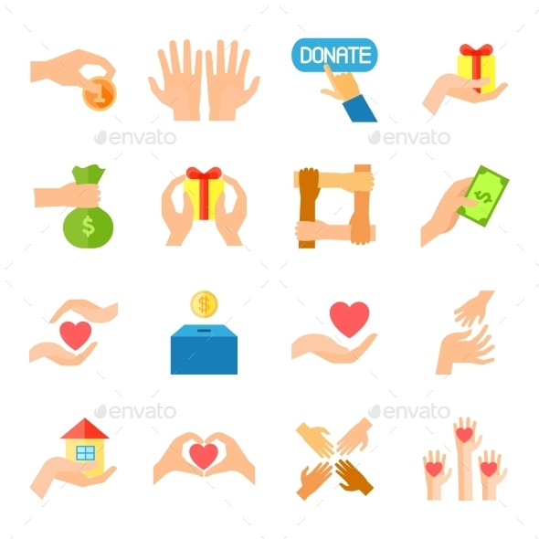 Donate And Giving Icon Set - Miscellaneous Icons