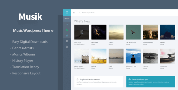 Musik – Responsive Music WordPress Theme