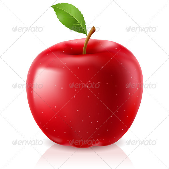 Delicious Red Apple - Food Objects