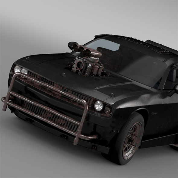 Mad Max Fight Interceptor Dodge Challenger 2015 - 3DOcean Item for Sale