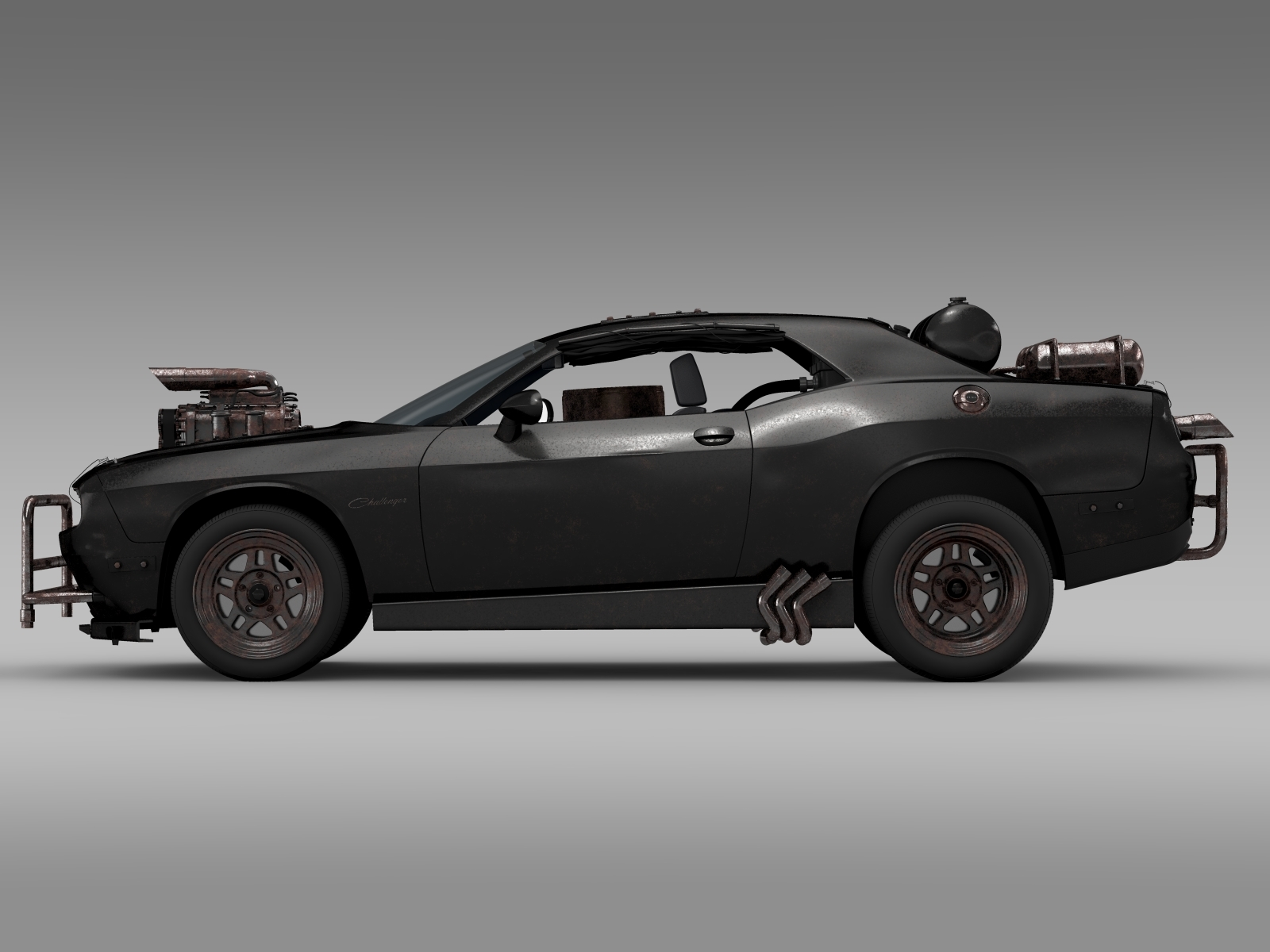 Mad Max Dodge Challenger >> Mad Max Fight Interceptor Dodge Challenger 2015 By Creator 3d 3docean