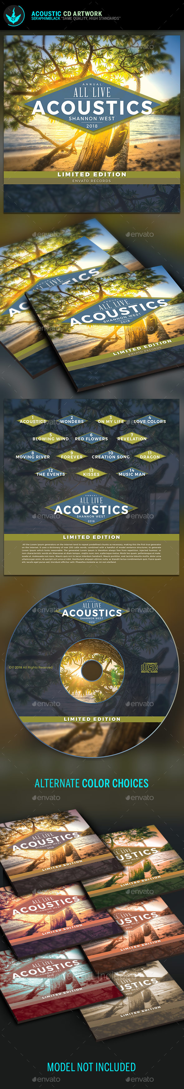 Acoustic CD Artwork Template - CD & DVD Artwork Print Templates