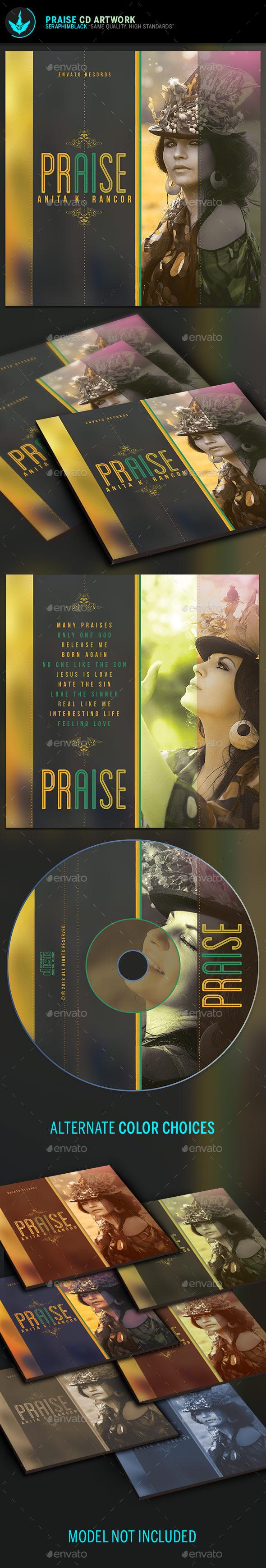 Praise and Prayer CD Artwork  Template - CD & DVD Artwork Print Templates