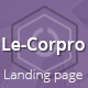 LeCorpo ||  HTML 5, Bootstrap Landing Page - ThemeForest Item for Sale