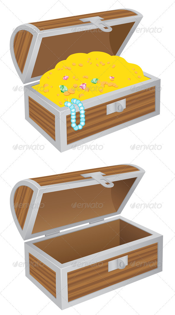 Chest of treasures - Objects Vectors