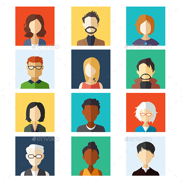 Avatar Icon - People Characters