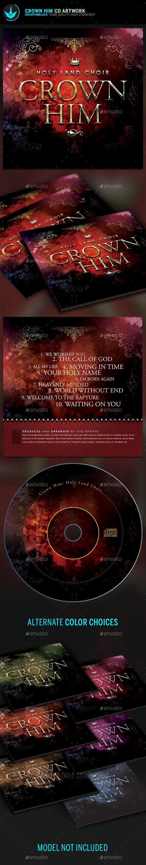 Royal CD Artwork Template - CD & DVD Artwork Print Templates