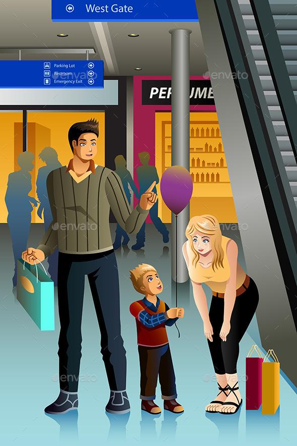Family Going Shopping - Commercial / Shopping Conceptual