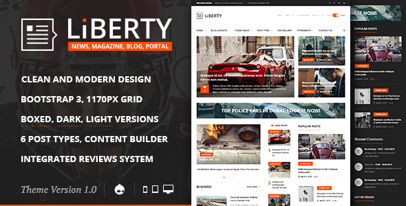 Liberty News Magazine Blog Drupal Theme