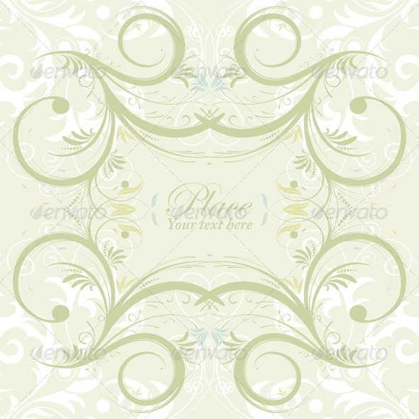 Flower Frame - Borders Decorative