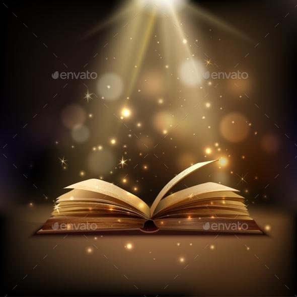 Magic Book Background - Backgrounds Decorative