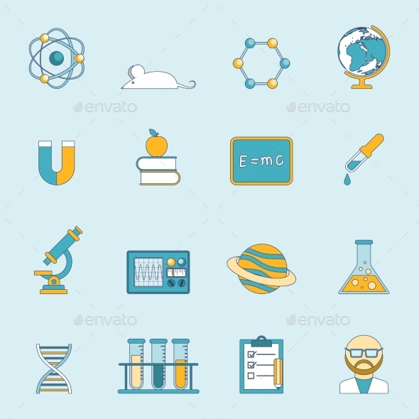 Science And Study Icon Set  - Technology Icons