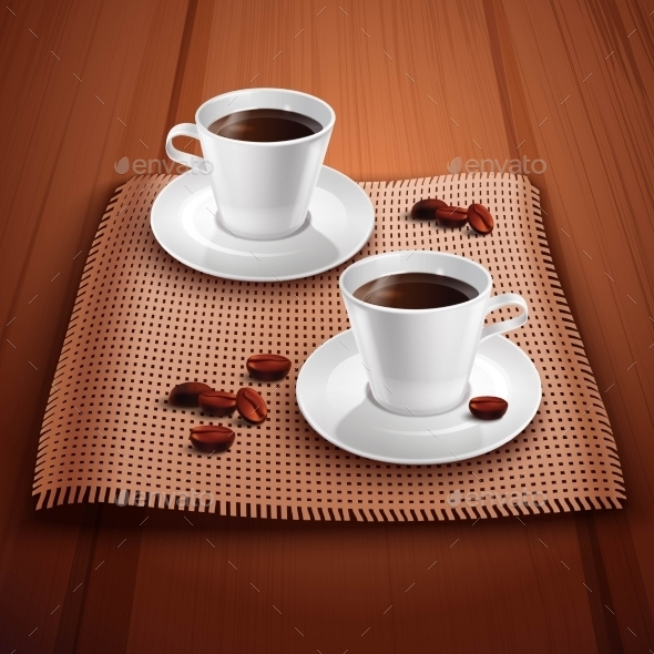 Coffee Realistic Background - Food Objects