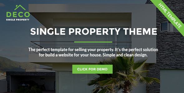 Deco House Single Property Real Estate HTML Template
