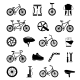 Bicycle Accessories Black Icons Set  - GraphicRiver Item for Sale