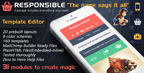 Responsive Email Template Builder - Responsible