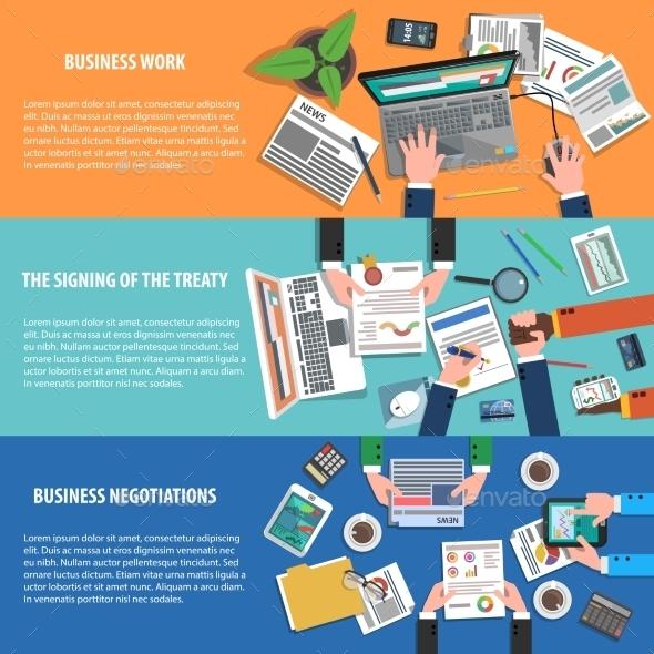 Business Banner Horizontal - Business Conceptual