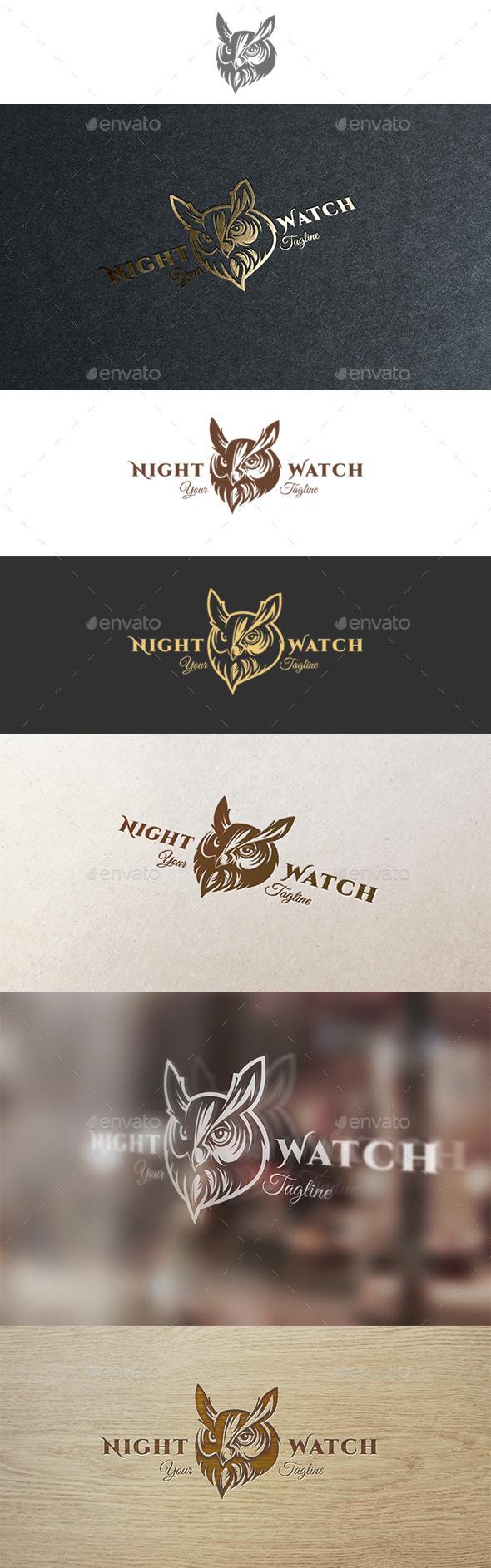 Night Watch Logo - Animals Logo Templates