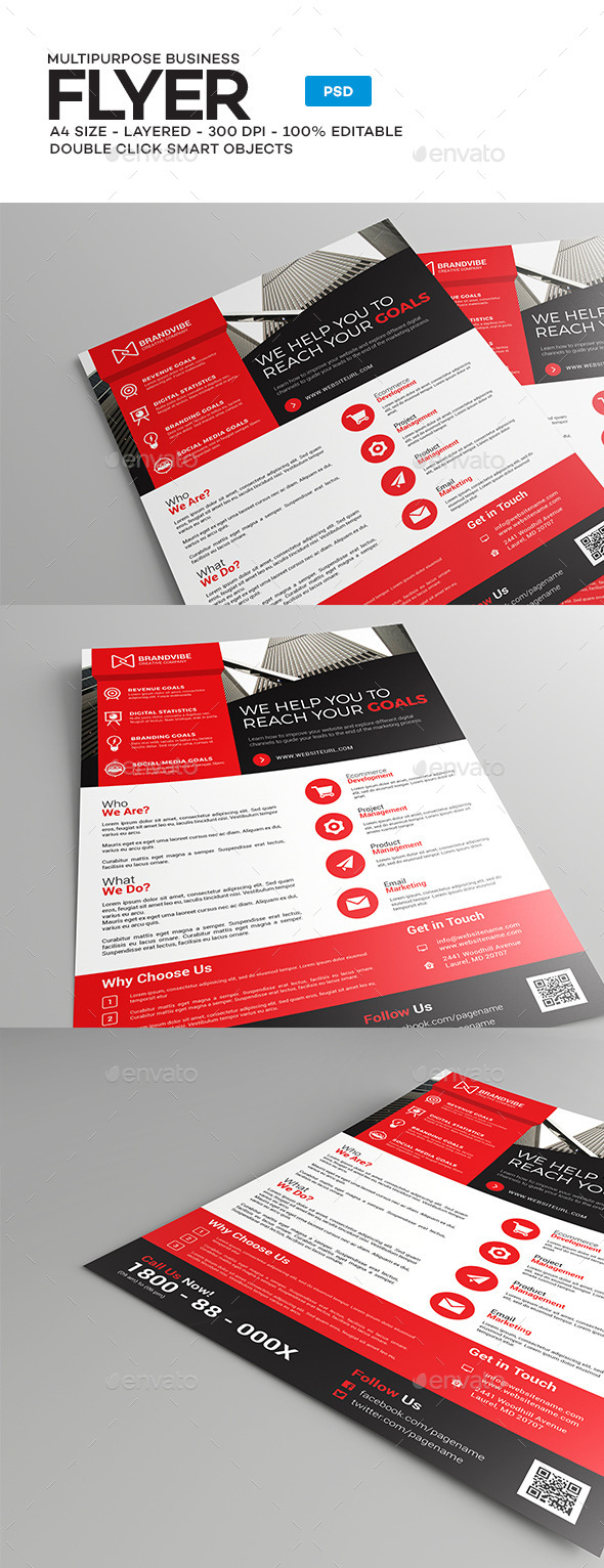 A4 Corporate Business Flyer Template - Corporate Flyers