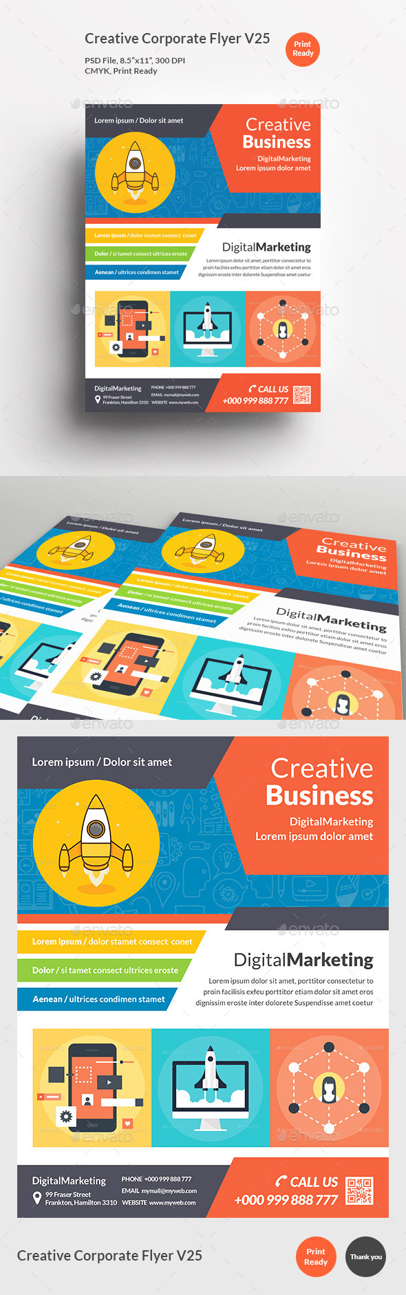 Creative Corporate Flyer V25 - Corporate Flyers