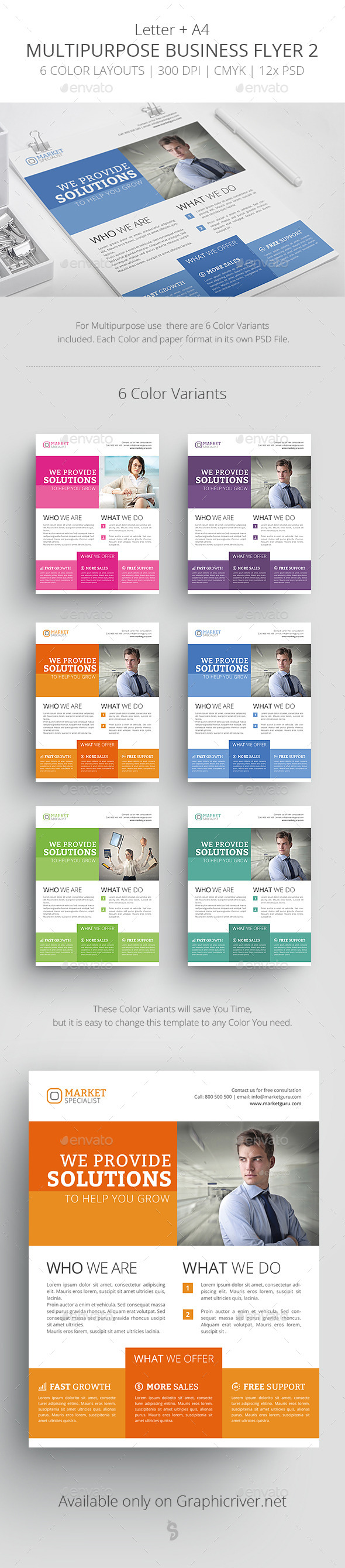 Multipurpose Business Flyer Template 2 - Corporate Flyers