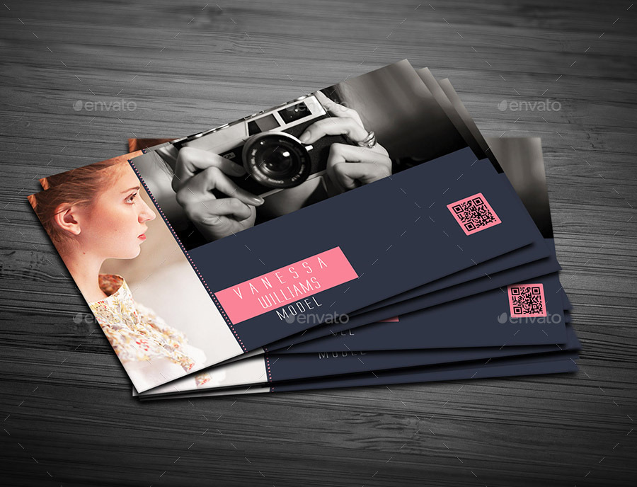 Photography Model Business Card Cards Print Templates Preview Image Set 01 Screenshot Jpg