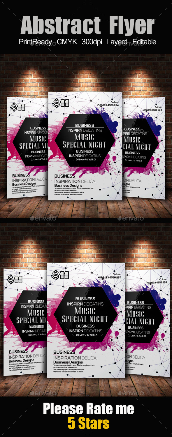 Creative Abstract Flyer Template - Clubs & Parties Events