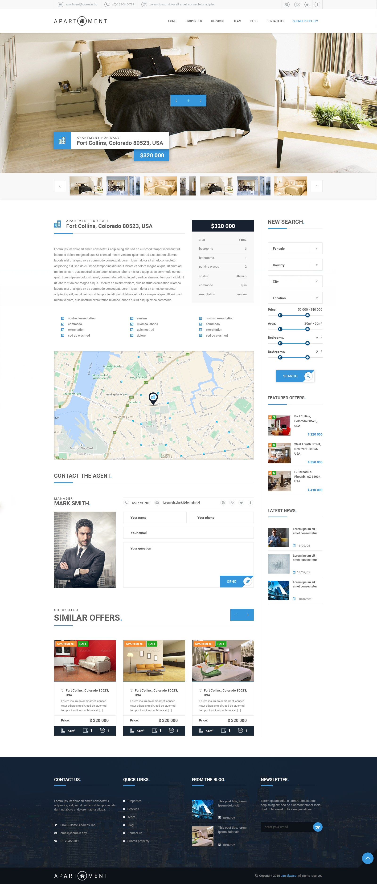 Apartment Premium Real Estate Psd Template By Johnnychaos