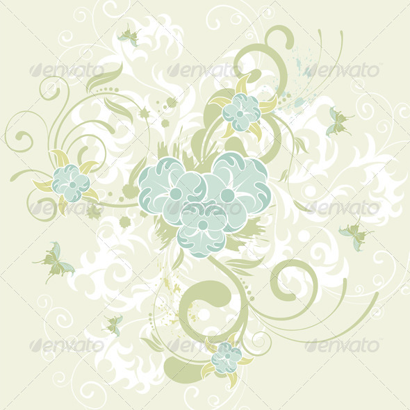 Flower Background - Flourishes / Swirls Decorative