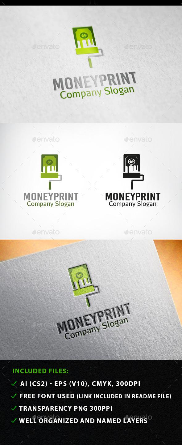 Money Print Logo  - Objects Logo Templates