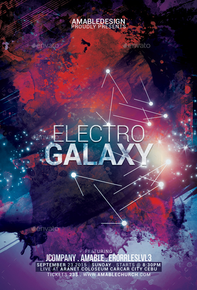 Electro Galaxy Flyer by amabledesign | GraphicRiver