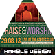 Praise and Worship Church Flyer - GraphicRiver Item for Sale