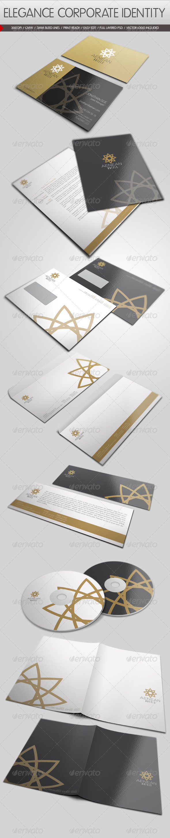 Elegance Corporate Identity - Stationery Print Templates