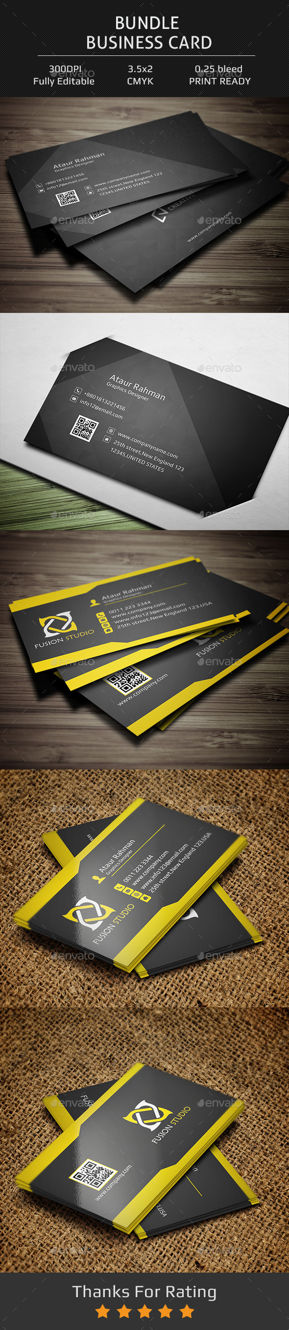 Bundle Business Card  - Creative Business Cards