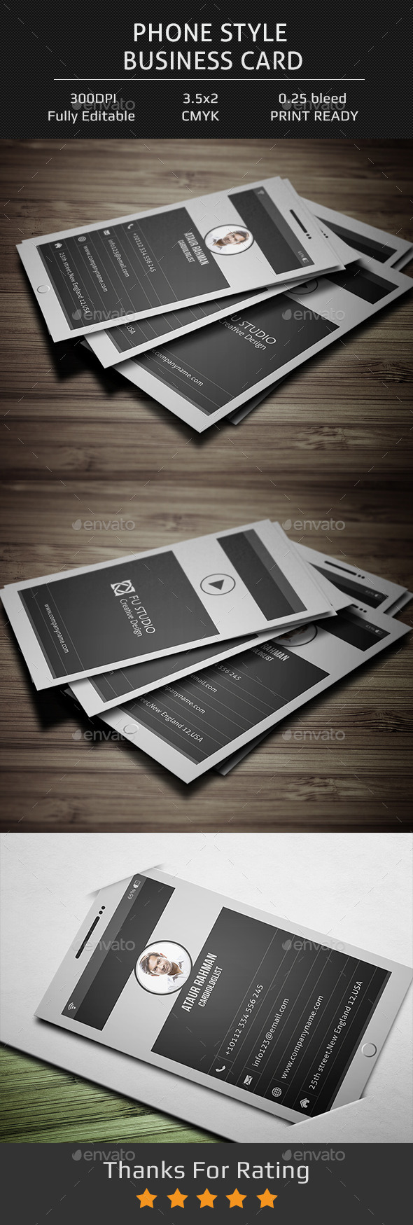 Phone Style Business Card - Creative Business Cards