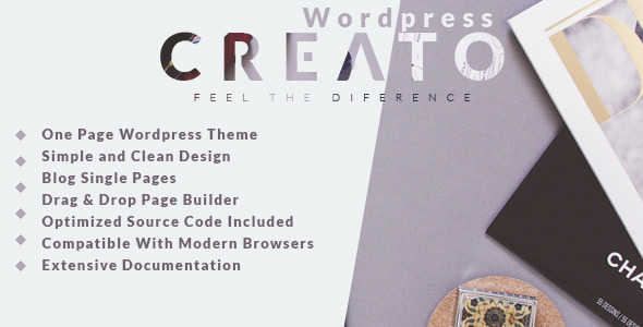 Creato – Creative & Modern WordPress Theme
