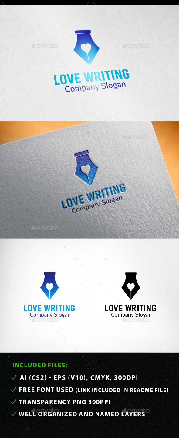 Love  Writing Logo - Symbols Logo Templates
