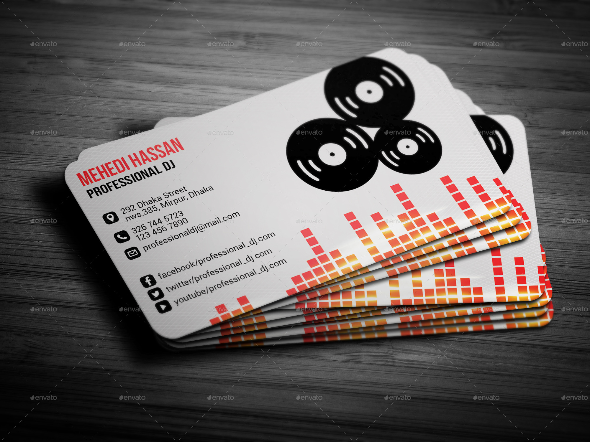dj business cardmehedi__hassan  graphicriver