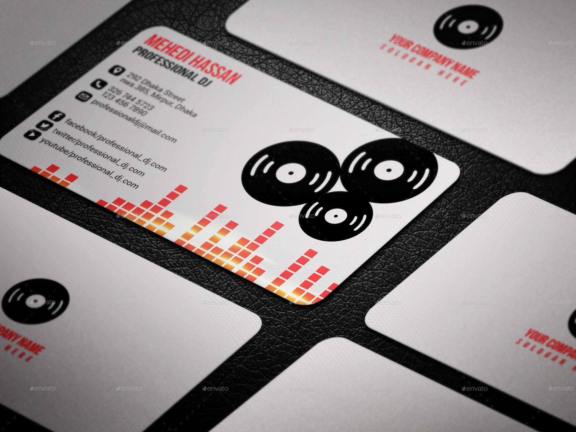 dj business card by mehedi hassan