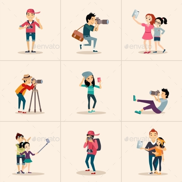 Character Design Posing with Camera - People Characters