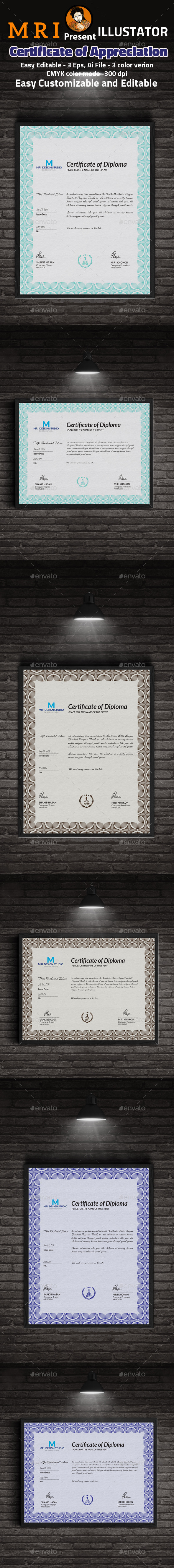 Certificate of Appreciation Template - Certificates Stationery