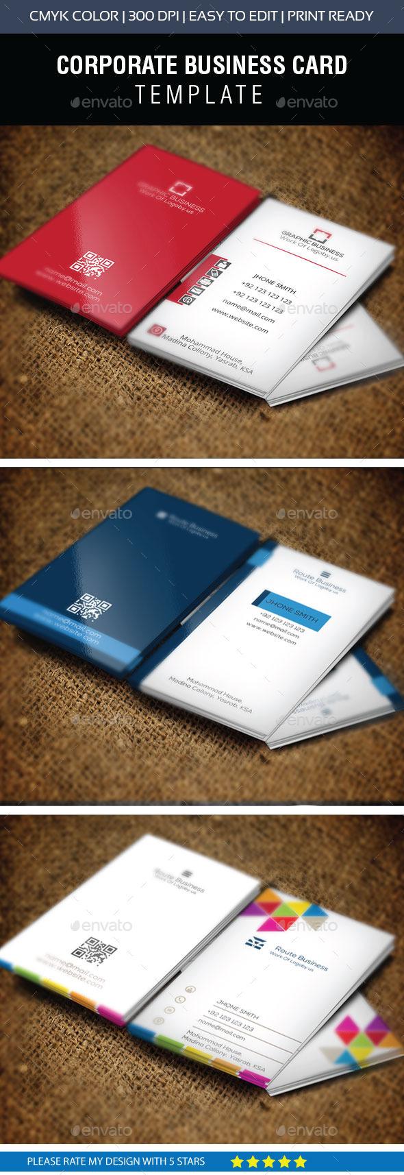 Corporate Business Card Bundle II - Business Cards Print Templates